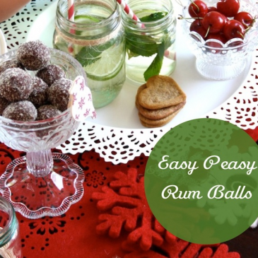 Easy Peasy Rum Balls & Minty Gin Cocktail