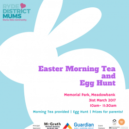 Our Easter Egg Hunt and Morning Tea is back for 2017!
