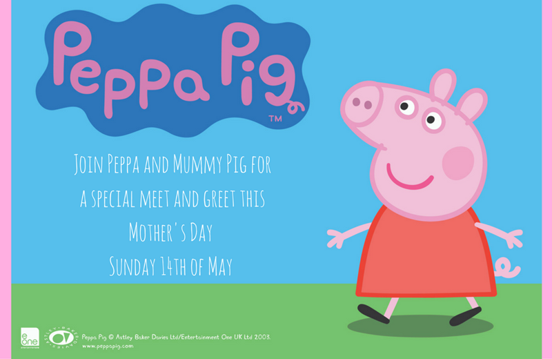 Peppa and Mummy Pig visit Lidcombe Centre for Mother's Day!