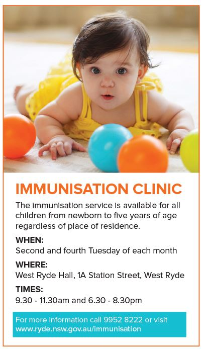 City of Ryde Immunisation Clinic
