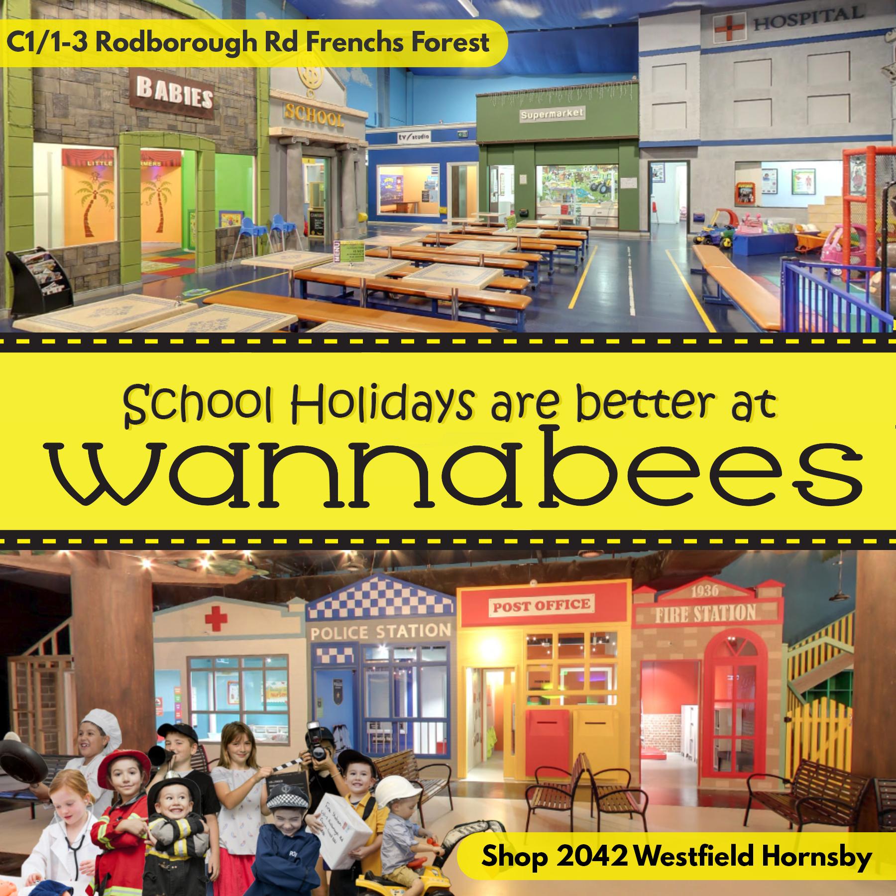Wannabees Family Play Town – January School Holidays