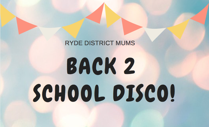 Our Back 2 School Disco IS BACK!