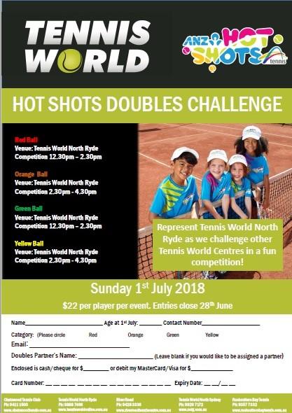 Tennis Hot Shots Doubles Tournament
