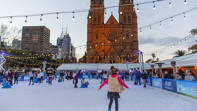 Ice Skating at St Mary's Cathedral