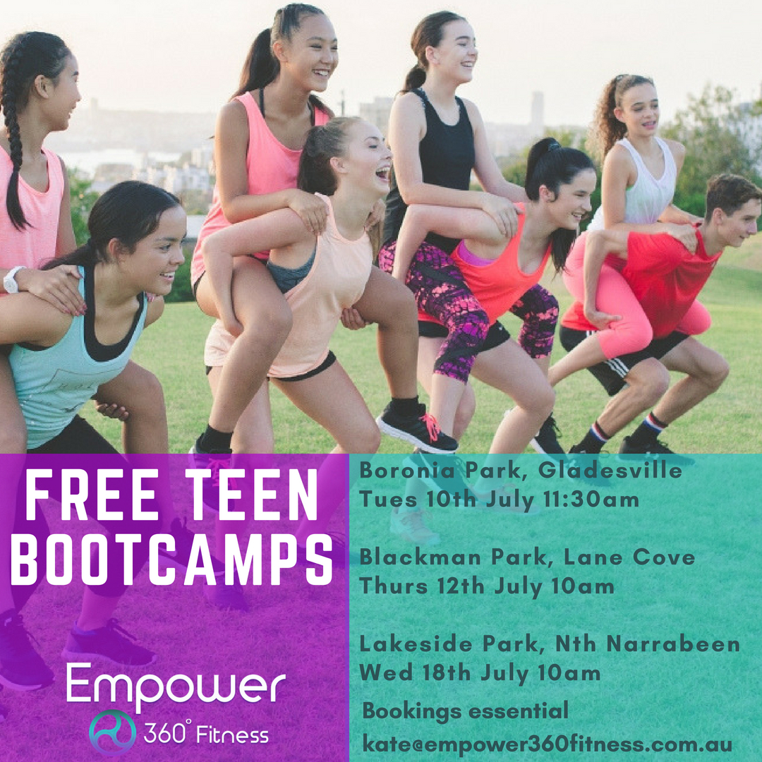 FREE school holiday teen bootcamp, Lane Cove
