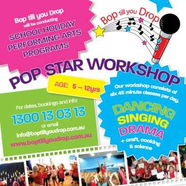 Bop till you Drop – January School Holiday Activities Guide