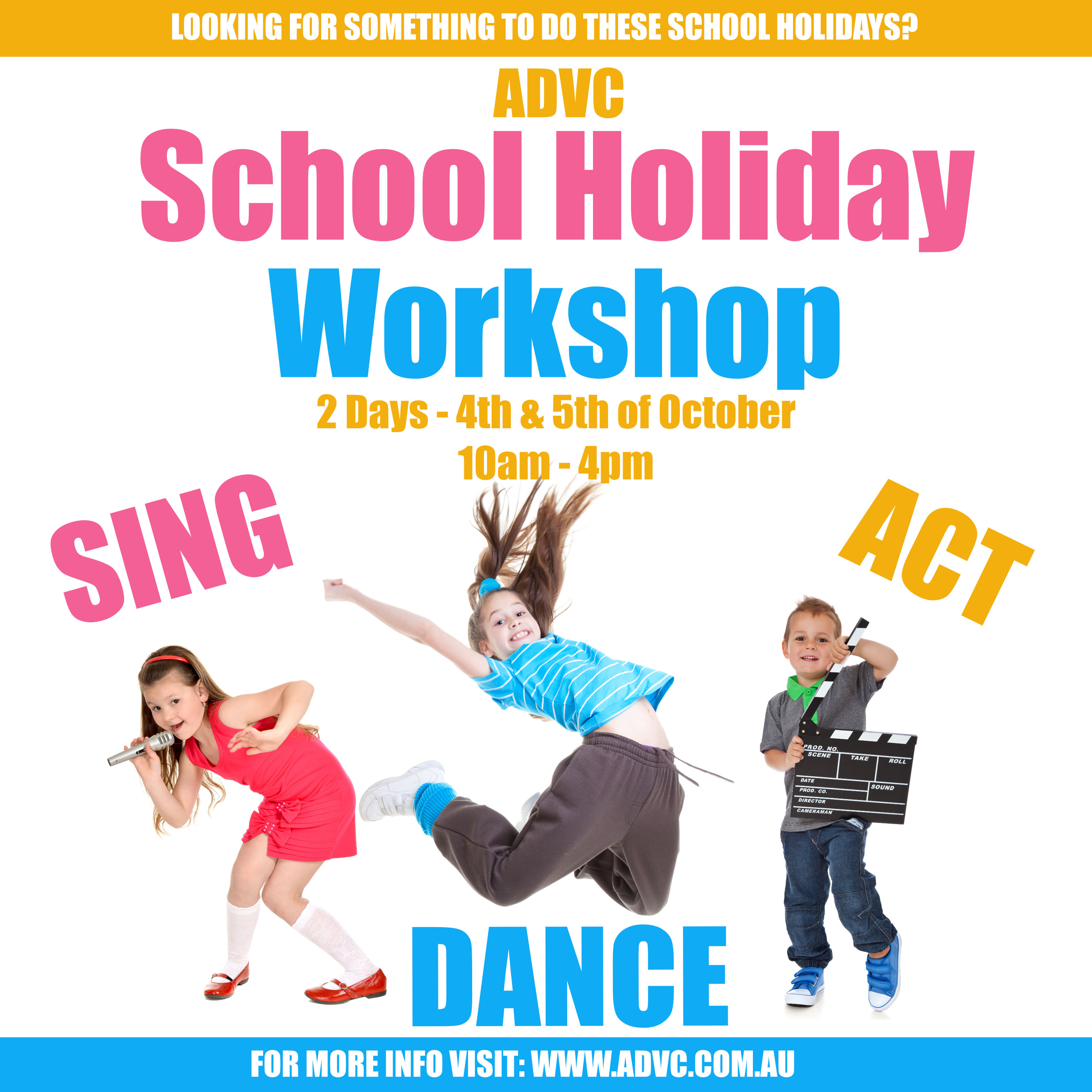 Alana De Roma SING DANCE ACT – September October School Holidays Activities Guide