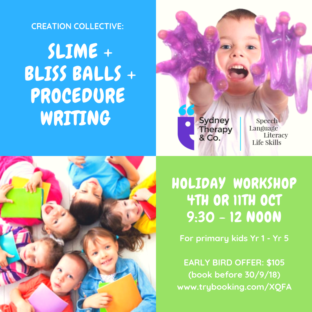 Sydney Therapy & Co. – October School Holidays Activities Guide