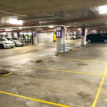Bollards Down on Level 1 at Top Ryde Shopping Centre
