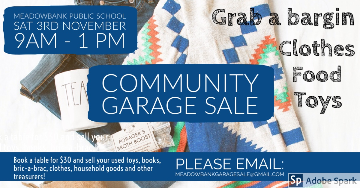 Meadowbank Public School Community Garage Sale
