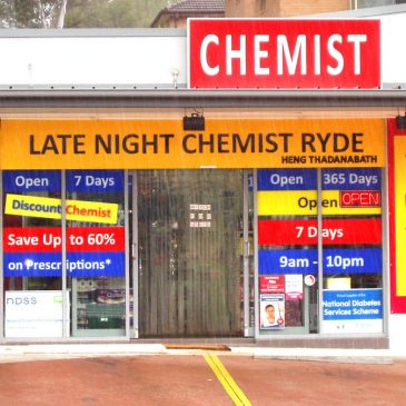 Late Night Chemists Around Ryde