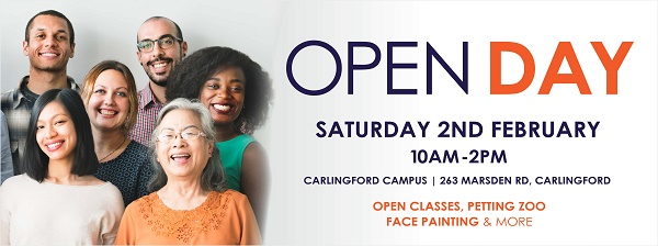 Open Day - FREE classes - Macquarie Community College