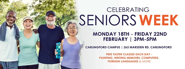 Seniors Week - Free taster classes - Macquarie Community College