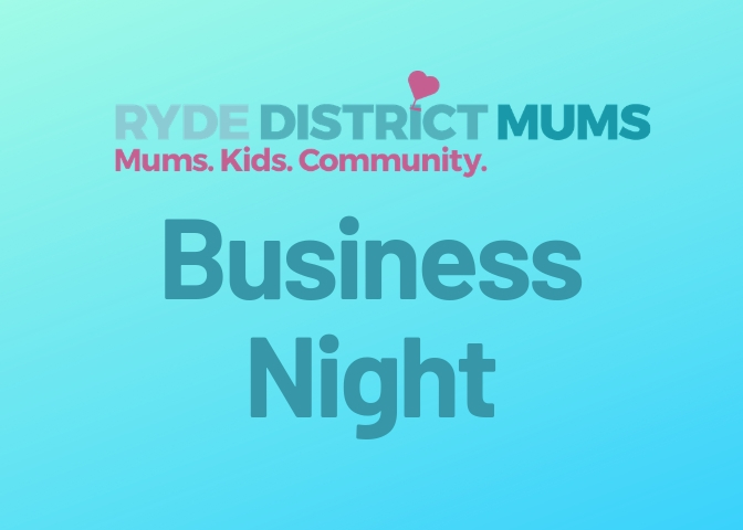 Ryde District Mums Closed Facebook Group Business Night