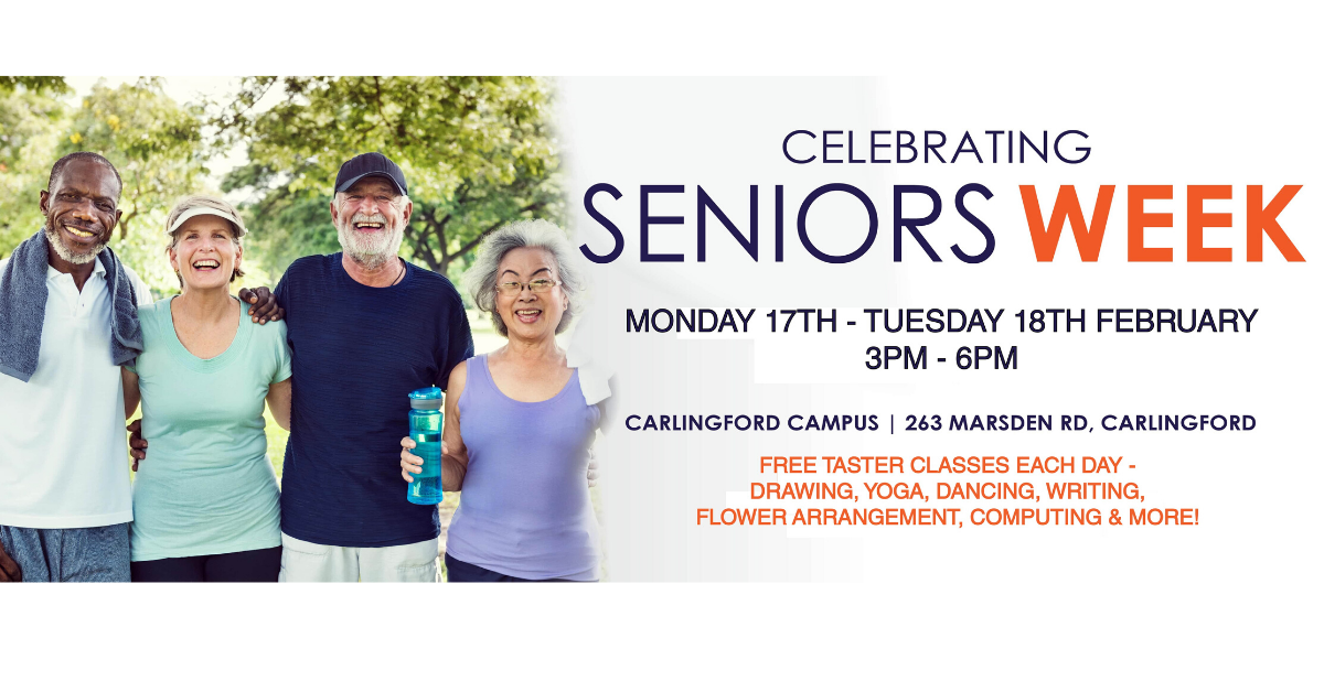Seniors Week - Free taster classes