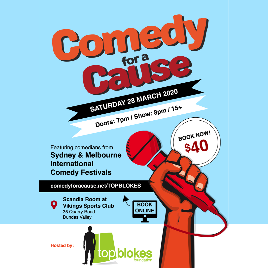 Have a laugh for young men's health at Viking Sports Club