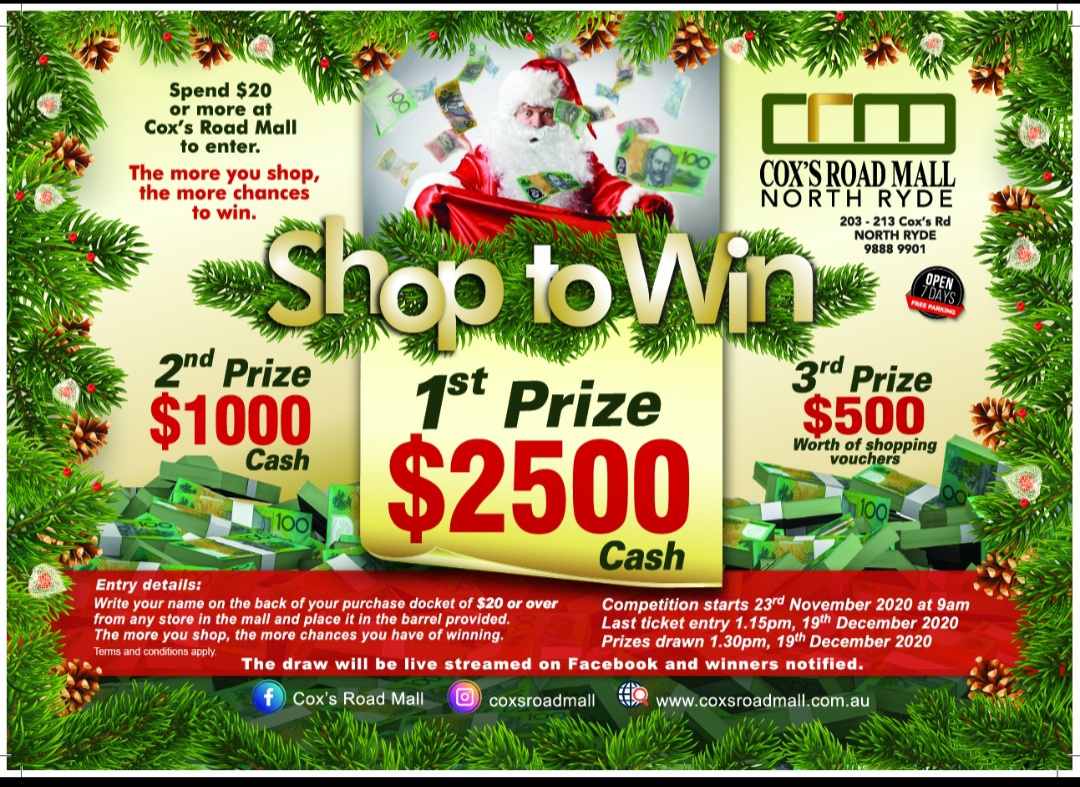 Cox's Road Mall Christmas Cash Give away