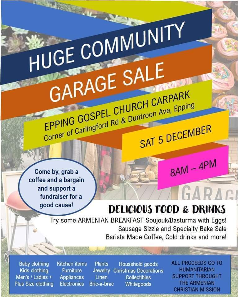 ACM Community Garage Sale - Epping Gospel Church
