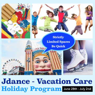Jdance Funcation Care & Entertainment – July School Holiday Activities Guide