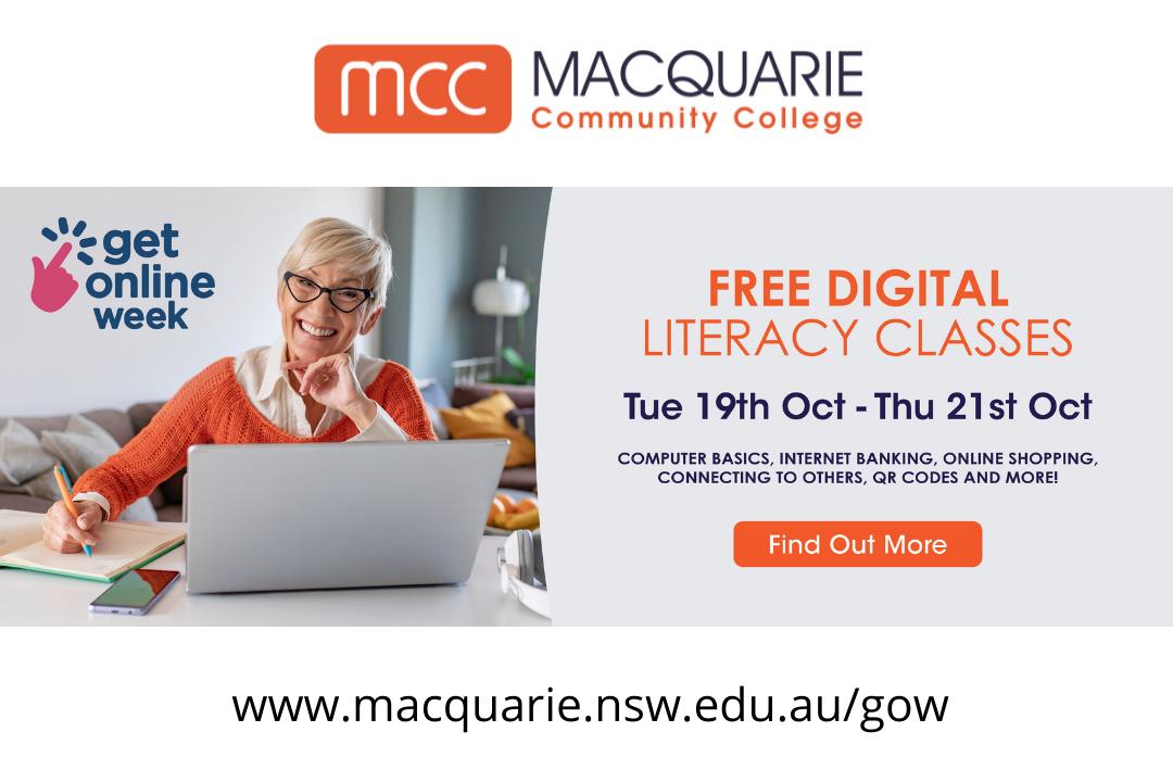 Get Online Week - Free Digital Literacy Classes (Online Event)